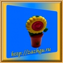 Зажигалка-цветок в горшке
